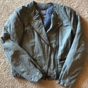 Army Green Gap Moto Jacket